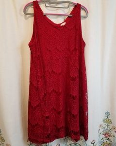 Red flapper style dress costume cosplay